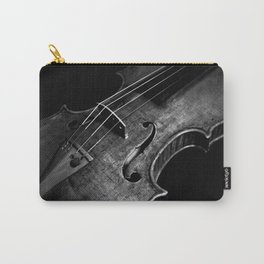 Black and White Violin Carry-All Pouch