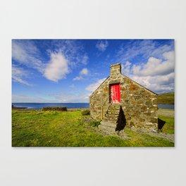 Fishermans Croft  Milovaig Isle of Skye Canvas Print