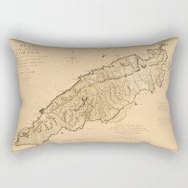 Map Of Tobago 1776 Rectangular Pillow