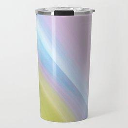 Pastel pattern blue river Travel Mug