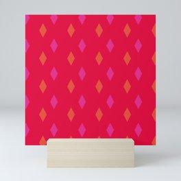 Scarlet With Diamonds Mini Art Print