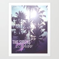 The Sirens Lounge - Mermaid  Art Print