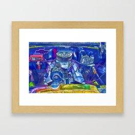 A View of a Motor Car Engine Framed Art Print