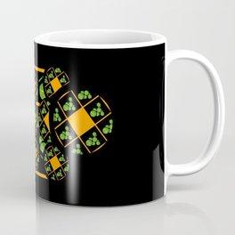 Orange and Green Spaces 100 Coffee Mug
