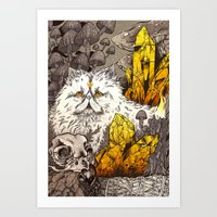 witchcraft Art Prints featuring Witchcraft by Angela Rizza