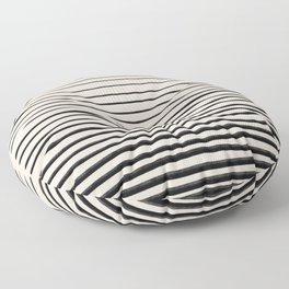 Black Horizontal Lines Floor Pillow