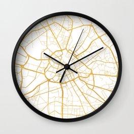 MANCHESTER ENGLAND CITY STREET MAP ART Wall Clock