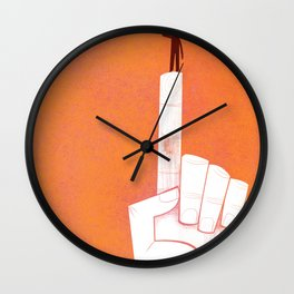 the point is my heart Wall Clock