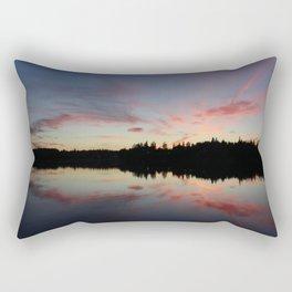 Purpley Orange and Glowy Rectangular Pillow