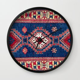 Kazak Southwest Caucasus Rug Print Wall Clock