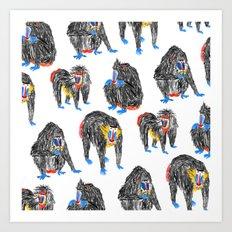 Baboons Art Print
