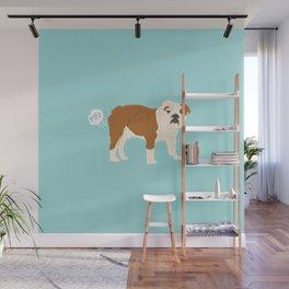english bulldog funny farting dog breed gifts Wall Mural