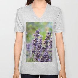 Lavender Flowers #1 #floral #art #society6 Unisex V-Neck