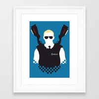hot fuzz Framed Art Prints featuring Here Come The Fuzz by Byway