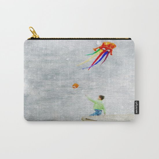 Boy at the beach Carry-All Pouch