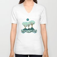 once upon a  time V-neck T-shirts featuring Once upon a time... by Viviana Gonzalez