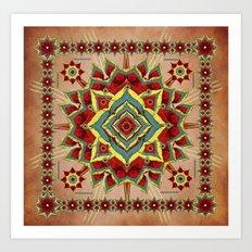 Desert Autumn Mandala Art Print