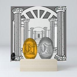 Necropolis Coins Gold and Silver 1 Mini Art Print