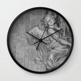 Angel Art Photograph taken in Rome, Italy Wall Clock