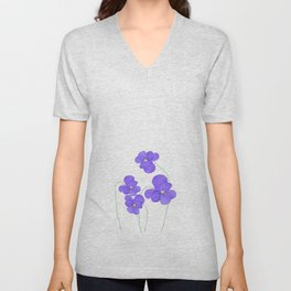 purple beauties Unisex V-Neck