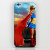 supergirl iPhone & iPod Skins featuring Supergirl by Shana-e