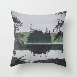 Ouse Lake, Algonquin Park Throw Pillow