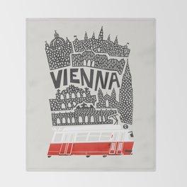 Vienna City Print Throw Blanket