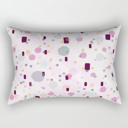 Watercolor Splash Effect Pattern Rectangular Pillow