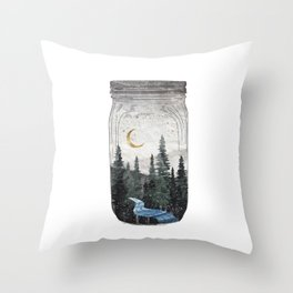 Forest in A Jar Throw Pillow