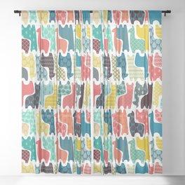 baby llamas Sheer Curtain
