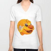 korean V-neck T-shirts featuring Korean Lantern  by Benedict Middleton