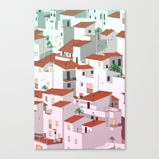 Sunset in my town Canvas Print