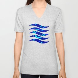 Circles on the water glowing from the inside. Unisex V-Neck