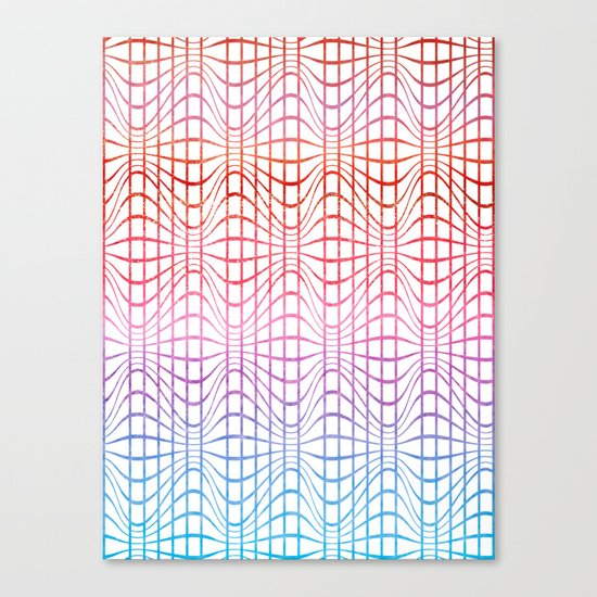 Straight and curved lines - Optical Game 19 Canvas Print