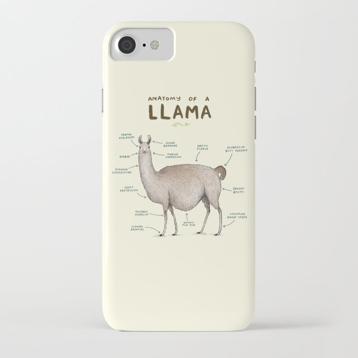 anatomy of a llama iphone case