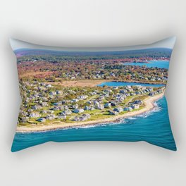 Charlestown, Rhode Island Autumn Coastline along with Ninigret Pond Rectangular Pillow