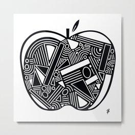 The Back To School Apple Metal Print