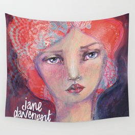 Folie by Jane Davenport ( with logo) Wall Tapestry