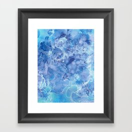Ice Abstraction Framed Art Print