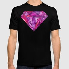 Rhodolite Black MEDIUM Mens Fitted Tee