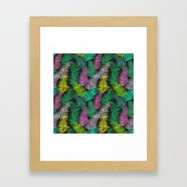 Palm Leaves Dark Smaller Framed Art Print