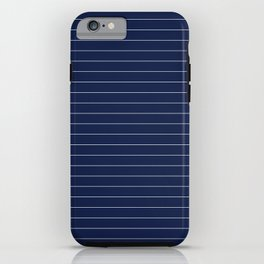 Navy Blue Pinstripe Lines iPhone Case