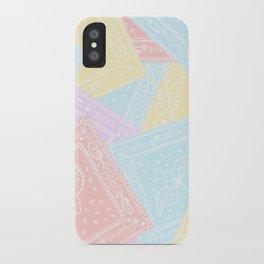 90s Rainbow Pastel Bandanas iPhone Case