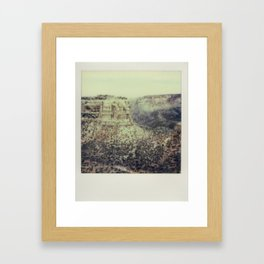 Colorado National Monument - Polaroid Framed Art Print