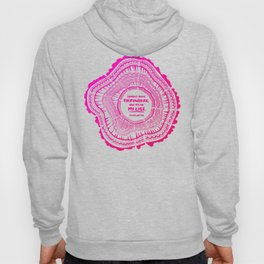My List – Pink Ombré Ink Hoody