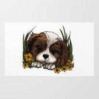 puppy Area & Throw Rugs featuring Puppy by Adamzworld