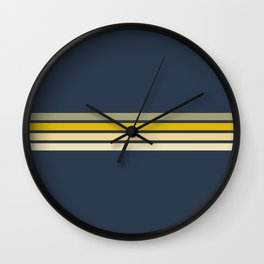 Racing Retro Stripes Wall Clock