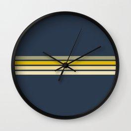 Racing Retro Stripes Wall Clock