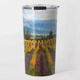 Autumn Vineyard Vista Travel Mug