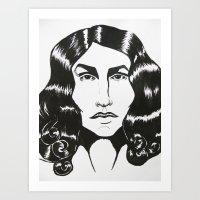ezra koenig Art Prints featuring Ezra Miller by ChristinneC